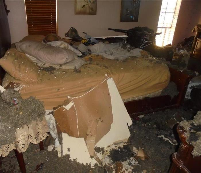 Residential Fire damage in McAllen ,Texas